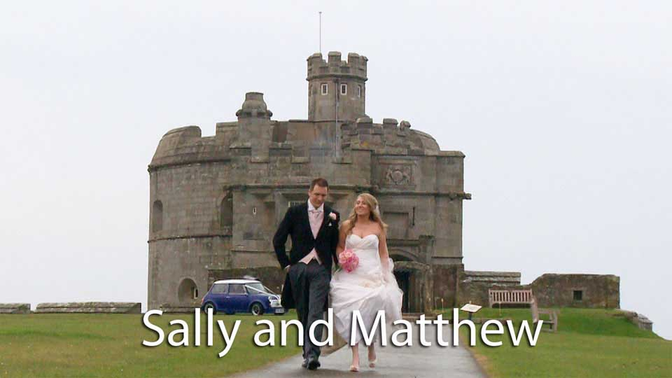Sally and Matthew at Pendennis castle.