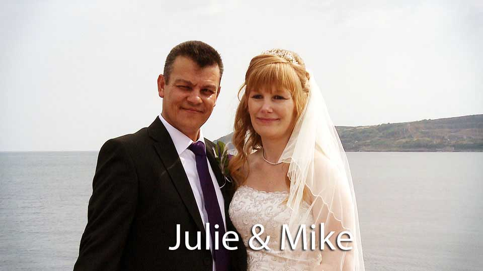 Julie and Mike at Tredavoe chapel
