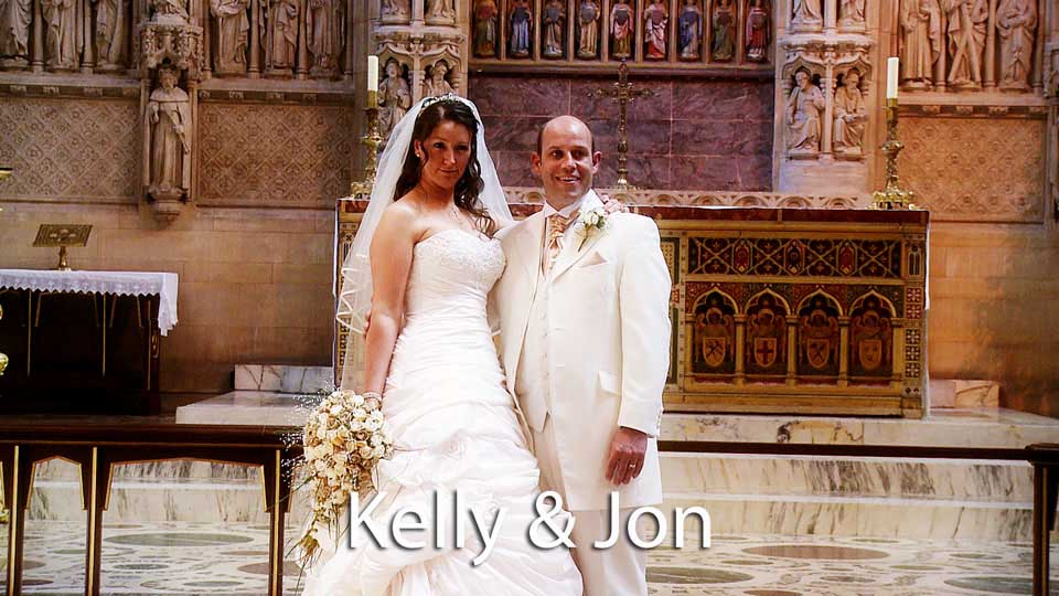 Kelly and Jon at Truro cathedral
