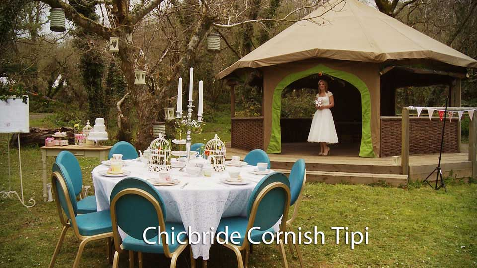 Chicbride at Cornish Tipi