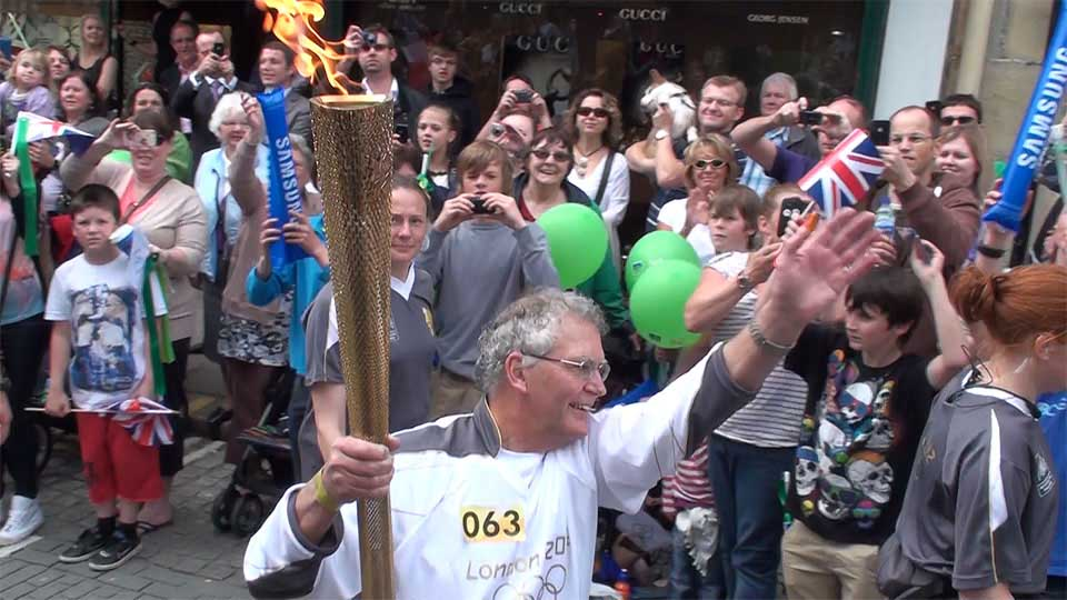 The Olympic Torch in Truro