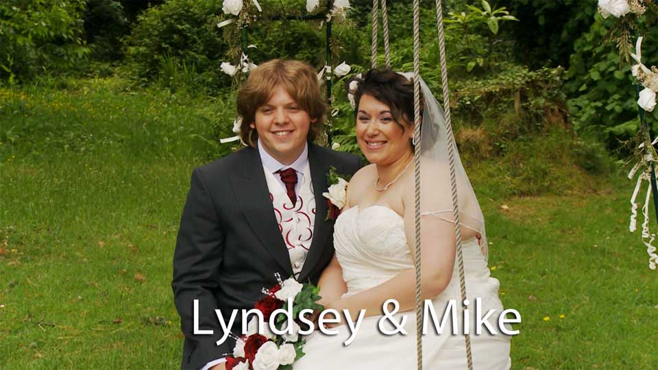 Lyndsey and Mike at Illogan church and Penmorvah Manor hotel Cornwall.