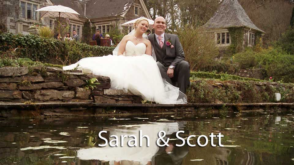 Sarah and Scott at Lewtrenchard Manor