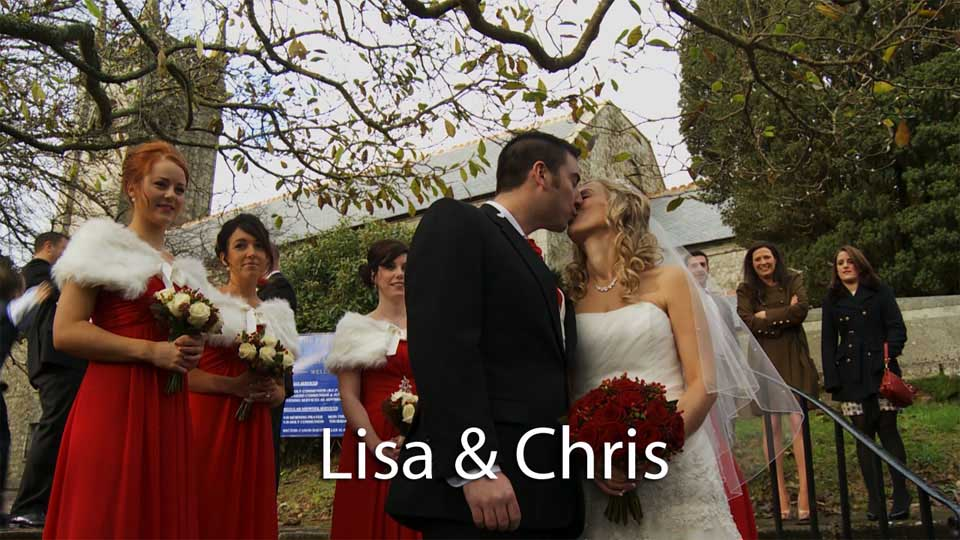 Lisa and Chris at Helston church