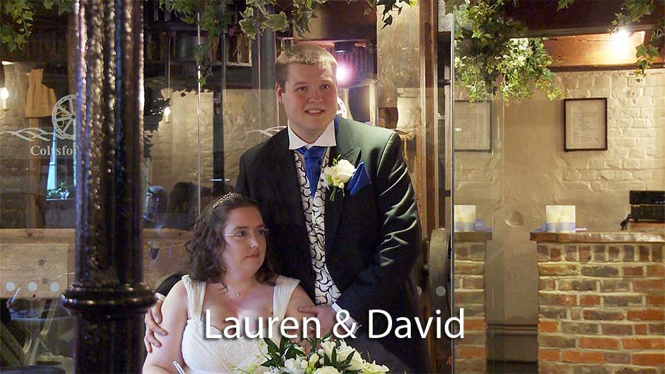 Lauren and David's wedding at Coltsford Mill
