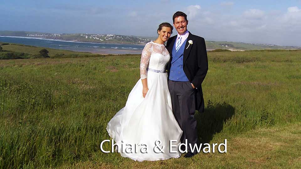 Chiara and Edward overlooking Padstow estuary