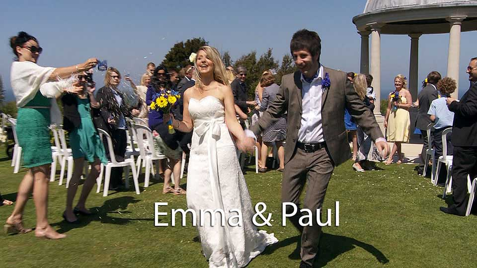 Emma & Paul's outdoor wedding at Tregenna castle