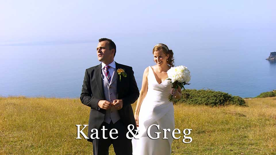 Kate & Greg's cliff top wedding