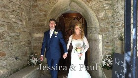 Jessica and Paul at Madron church