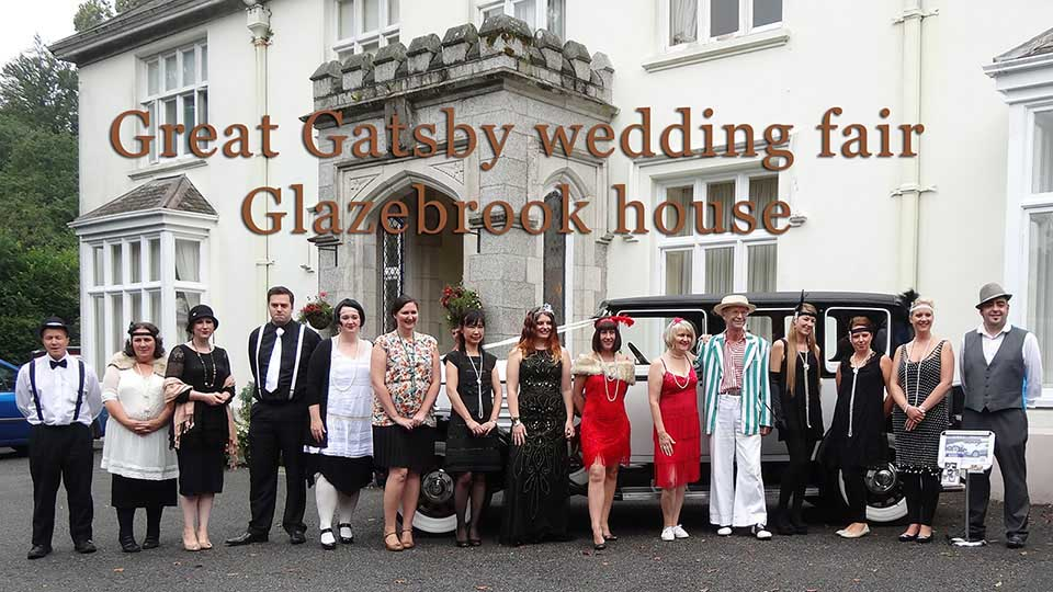 Gatsby styled wedding faie at Glazebrook house