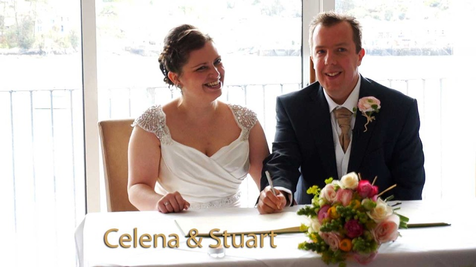 Celena and Stuart at Greenbank hotel Falmouth Cornwall