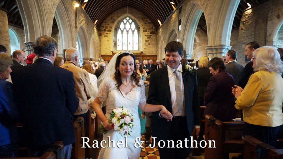 Racheland Jonathon's wedding at St. Columb Minor church Newquay Cornwall
