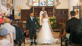 Laura and Greg at St. Minver church