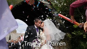 Tracey and Darren at St. Enodoc church