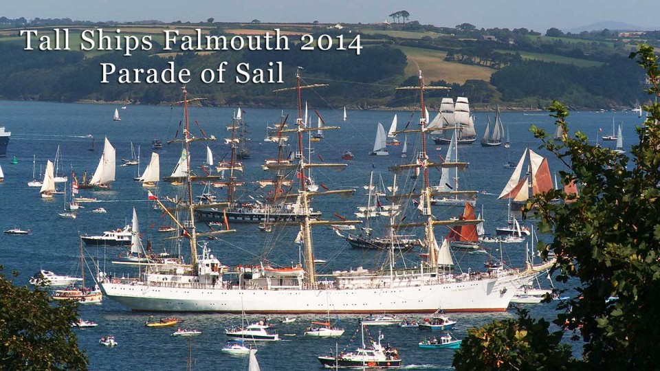 Tall ships parade of sail Falmouth 2014
