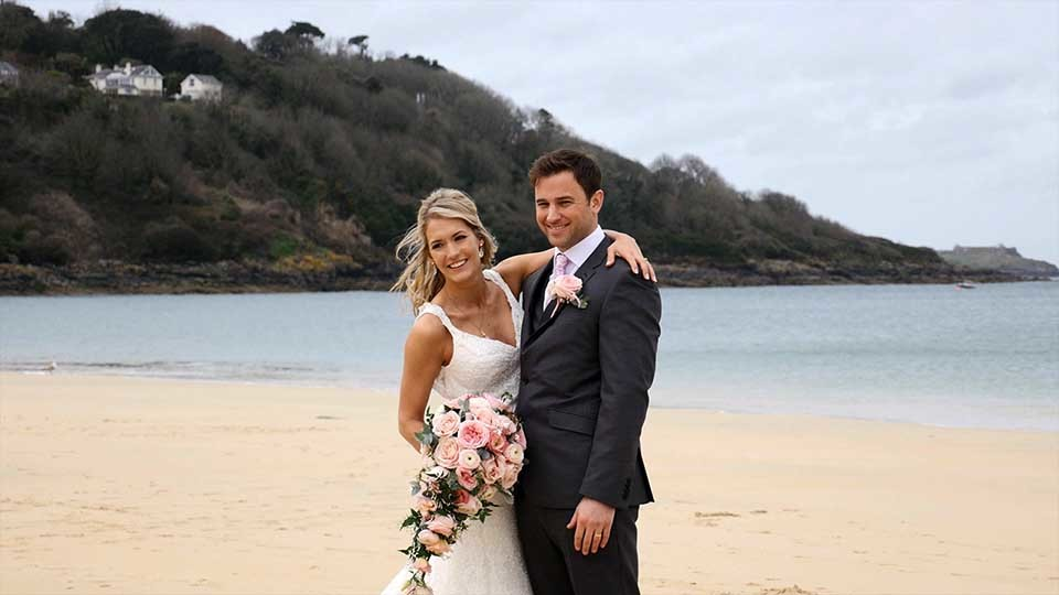 Danielle and Marc at Carbis Bay.