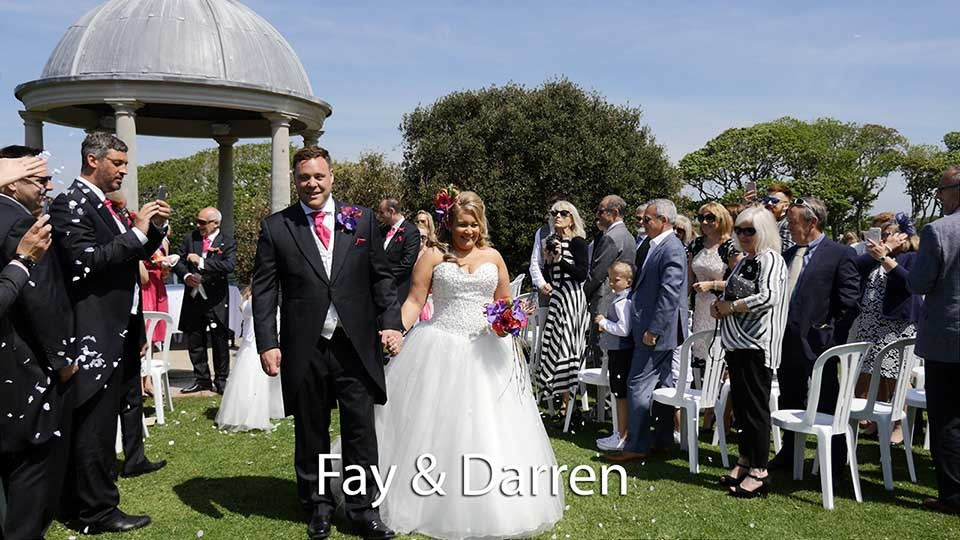 Fay and Darren at Tregenna Castle hotel St. Ives