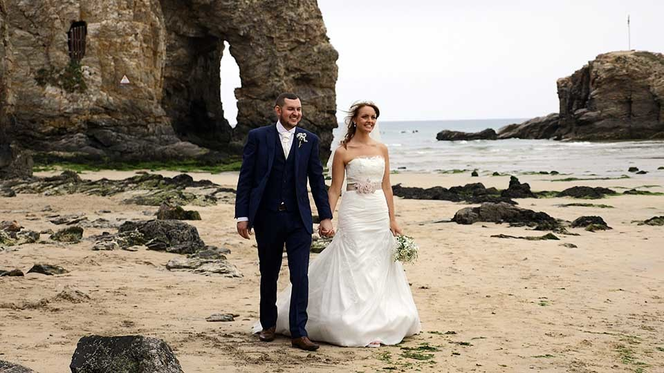 Carla and Philip at Seiners Perranporth