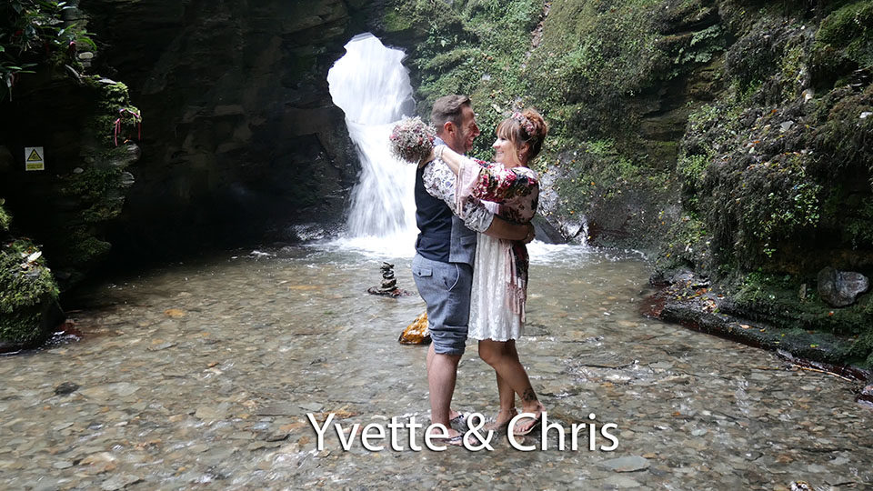 Yvette and Chris Handfasting Ceremony St. Nectans Glen Cornwall
