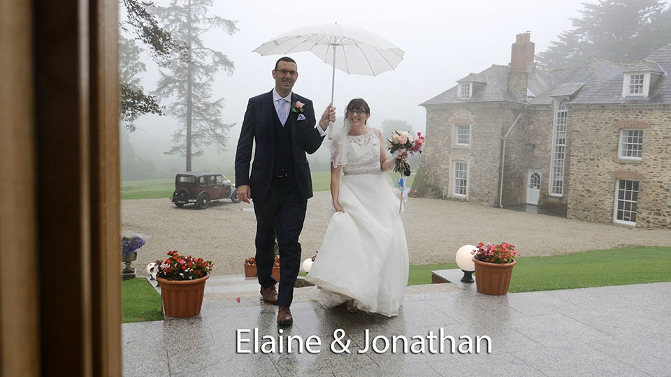 Elaine & Jonathan at Tredudwell manor