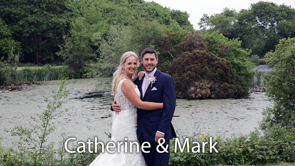 Catherine and  Mark at Colan church