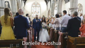 Danielle and Joshua at Illogan church