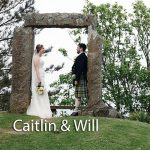 Caitlin and Will at Pendennis Castle in Cornwall