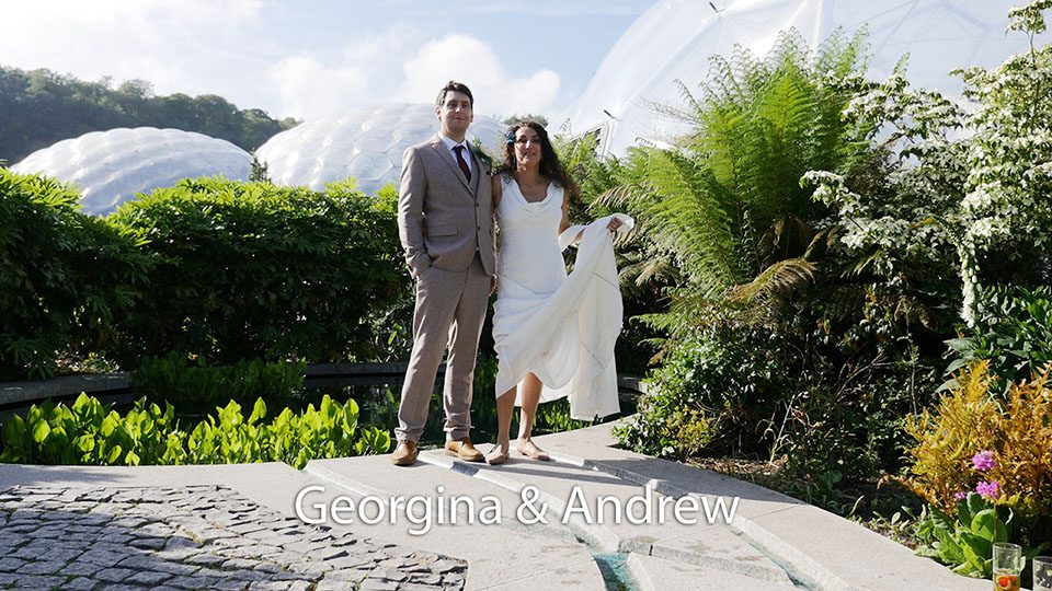 Georgina and Andrew at the Eden Project