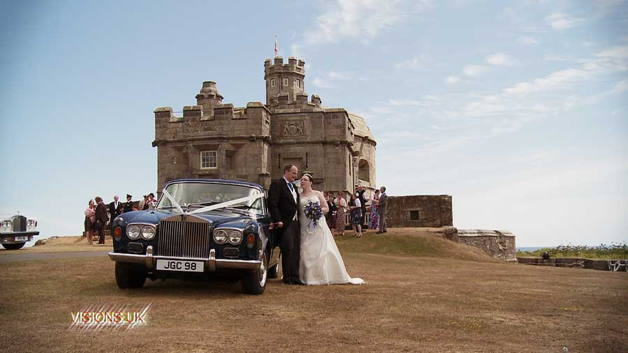Jen and Tristran at Pendennis castle