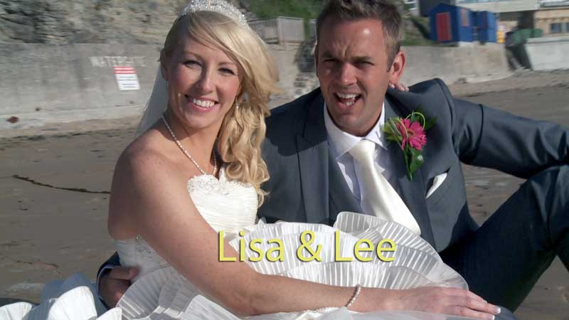 Lisa & Lee get married at Watergate Bay, Cornwall.