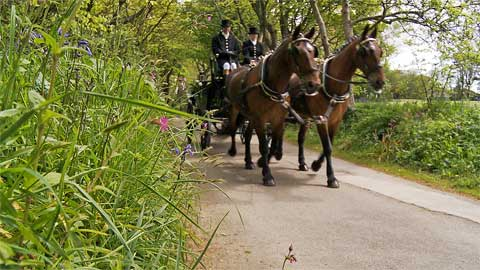 Praze Carriage company at Tregenna Castle St. Ives Cornwall