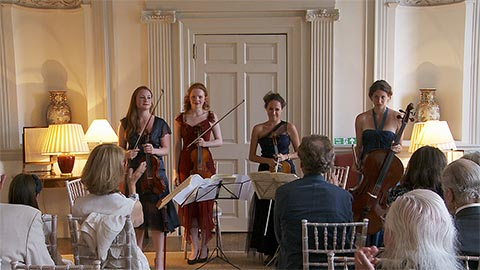 The Danchin Quartet perform at Boconnoc house