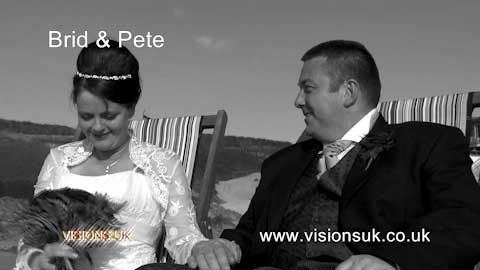 Brid and Pete at Headland hotel