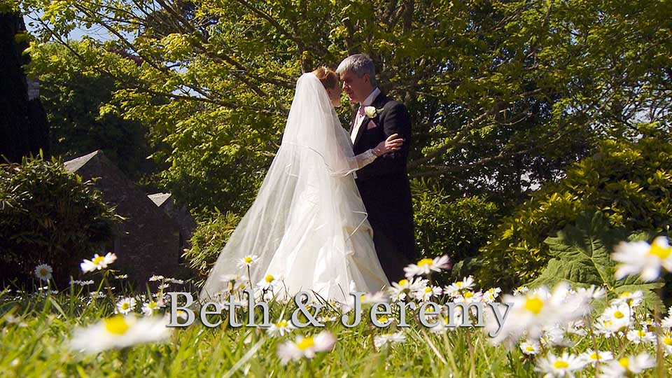 Beth and Jeremy at St. Just in Roseland church
