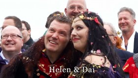 Helen and Dai at St. Mawes castle