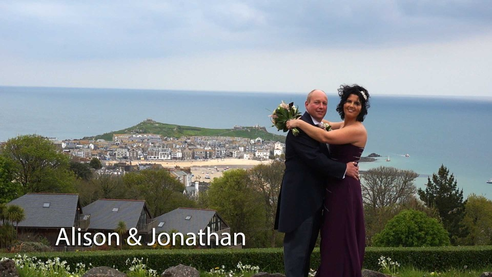 Alison and Jonathan at Tregenna castle