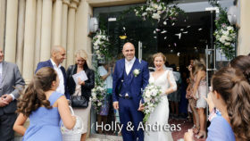 Holly and Andreas at St. Peter's church Plymouth